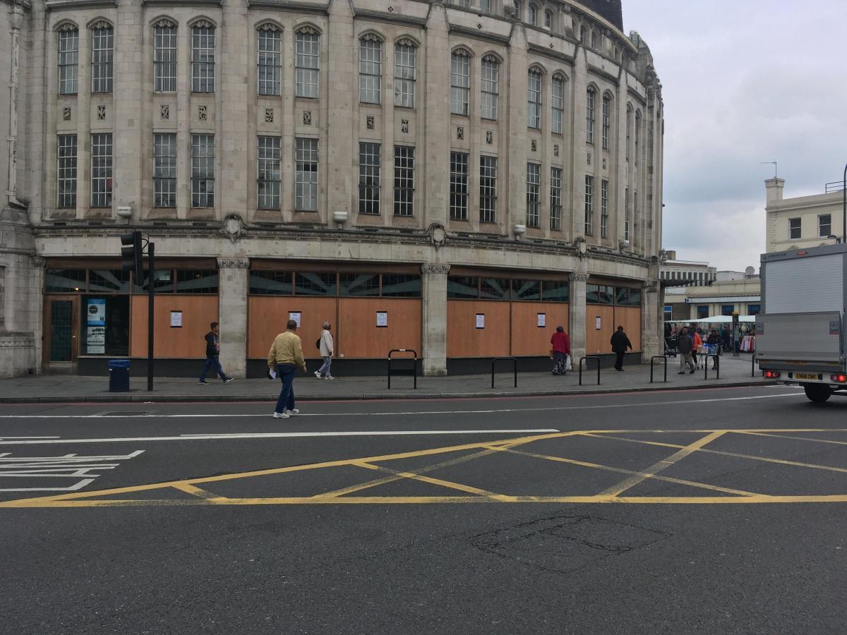 Lewisham Council Repairing Windows On Broadway Theatre In