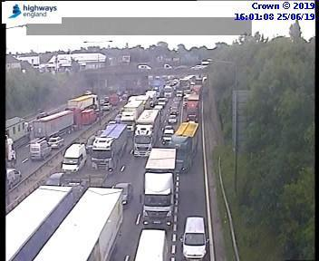 Lorry crash on the M25.
