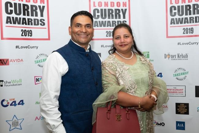 Sujan and his wife Bandana are proud of their achievements (London Curry Awards)
