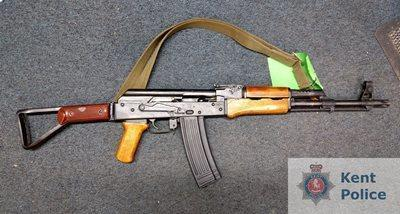 An Ak-47 assault rifle handed in during Kent Police's firearm amnest in January. Credit: Kent Police