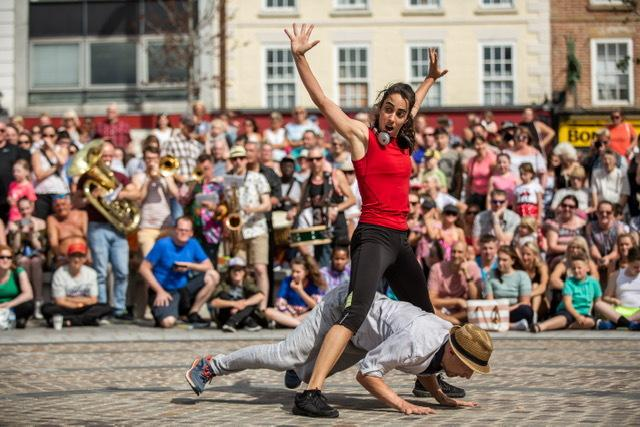 Protein dance company are taking to the streets (Roswitha Chesher)