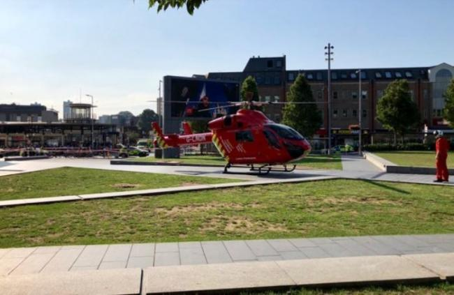 A man was rushed to hospital via air ambulance - Credit Dean Bresnahan