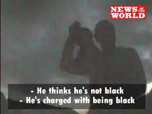 News Shopper: The BNP members charged the gollywog dubbed Wingston with being black before throwing it onto a fire