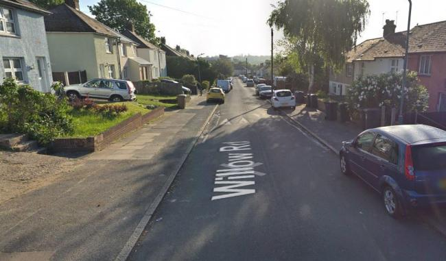 Google Street View - Willow Road Dartford where cat's head found in garden