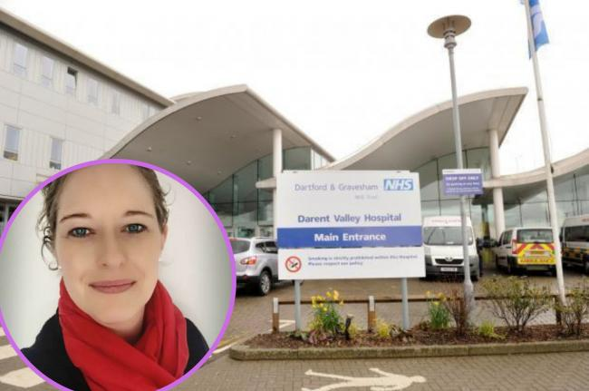 Mandy Garford of Dartford Clean Air concerned over worrying levels of air pollution at Darent Valley Hospital Site