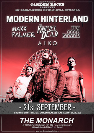 Camden Rocks presents Modern Hinterland and more at The Monarch