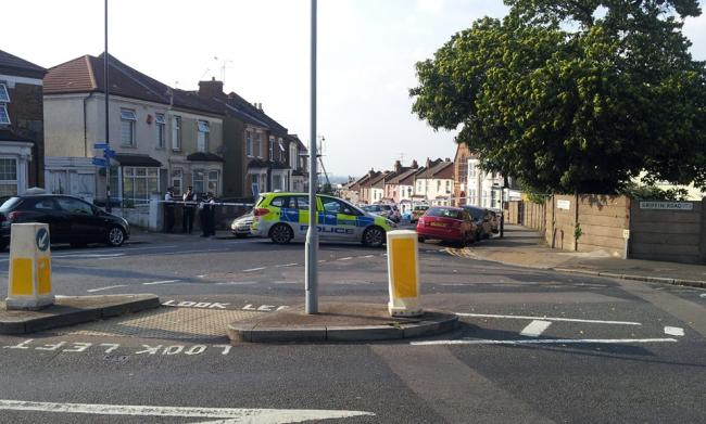 Waverley Crescent taped off after stabbing (Photo - Alan O'Neill)