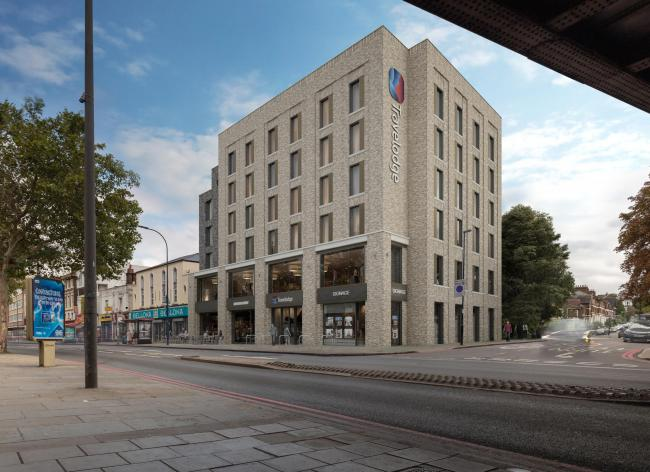 A CGI impression of how the Travelodge will look