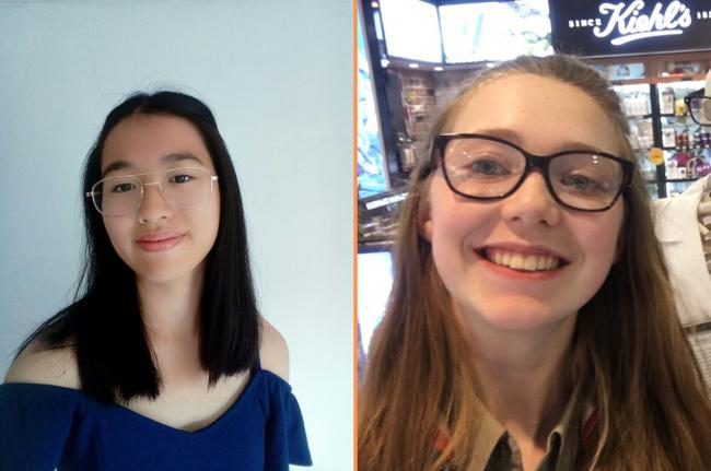 Kylie Li (16) and Katie Hederson (16) scored grade 9s in all 12 of the GCSE exams