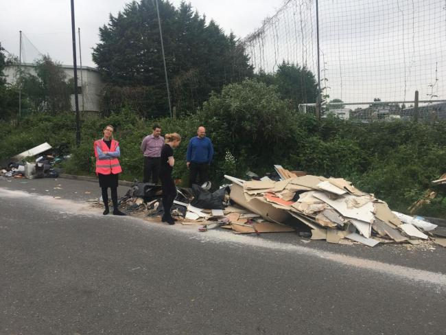 Photos show fly-tipping that is making it 'hell' for workers in a Lower Sydenham road (published May, 2018)