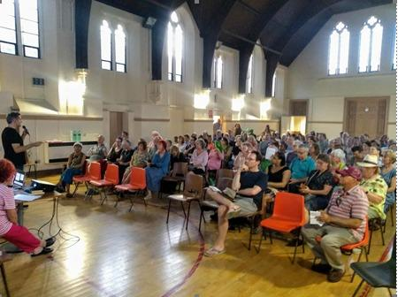 The initial meeting to save the Ladywell ward was attended by about 150 residents.