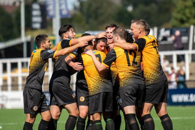 Cray Wanderers maintained their good form with a 3-1 win against Bowers & Pitsea - Pic Jon Hilliger