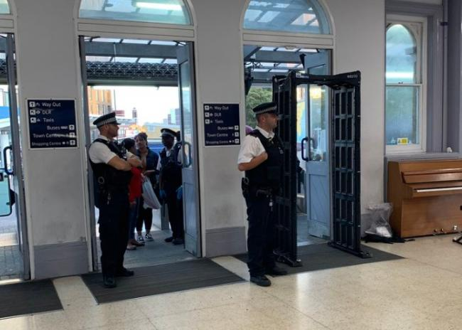 Police operation at Lewisham station