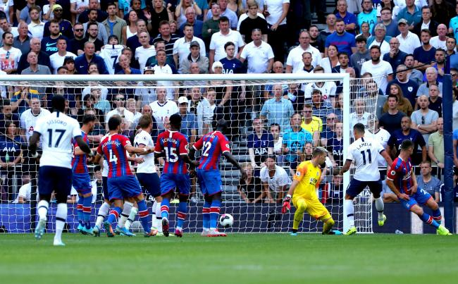 The moment Patrick van Aanholt scored an own goal. Photo: Yui Mok / PA