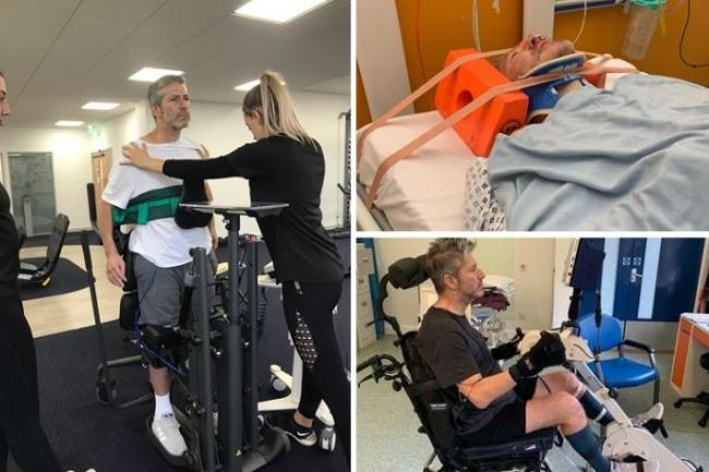 Philip White is continuing his remarkable recovery and is back home in Beckenham