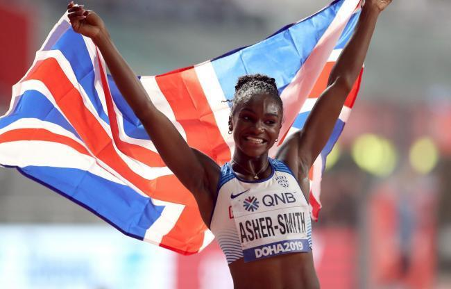 Asher-Smith won Gold in Doha
