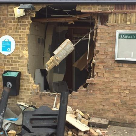 ATM ripped from wall by digger at Darenth Co-op