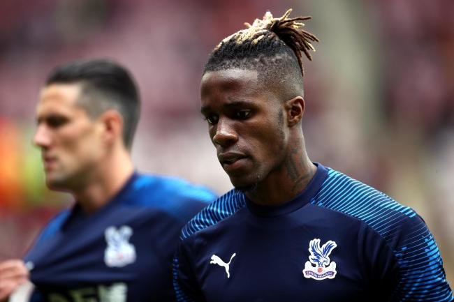 Wilfried Zaha was understood to be the target of online abuse