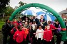 Lewisham Mayor Sir Steve Bullock with children from Downderry Primary School