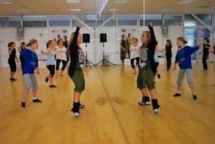 Charlotte Riby puts pupils through their paces