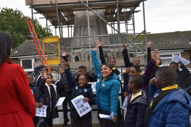 Pupils at Holy Trinity School, Forest Hill, visit Sir Christopher Wren's spire with the Heritage of London Trust