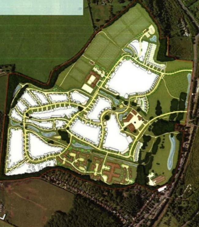 The proposed site plan of the Broke Hill development. Picture: Bromley council/Quinn Estates/Clague Architects.