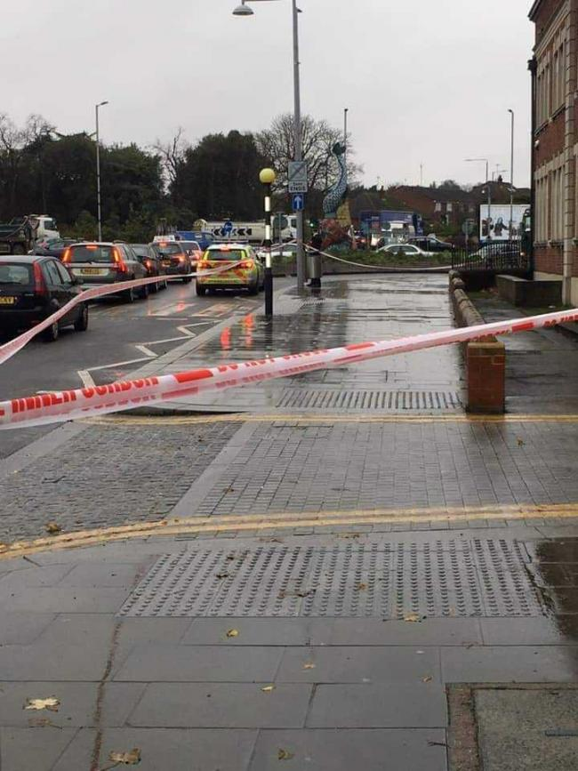 The cordoned-off section at Erith Town Hall. Picture: Joanne Tattler/Facebook.