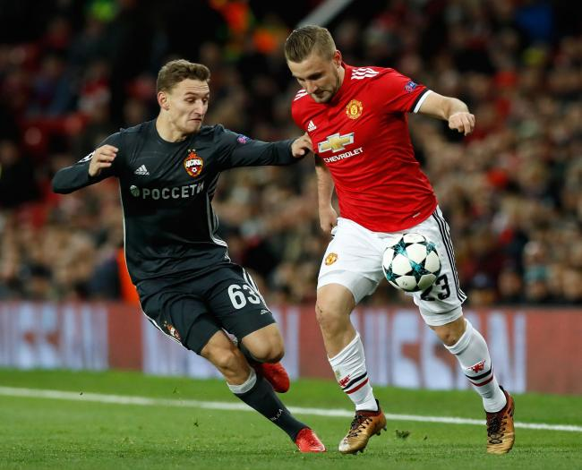 Chalov in action against Manchester United (PA)