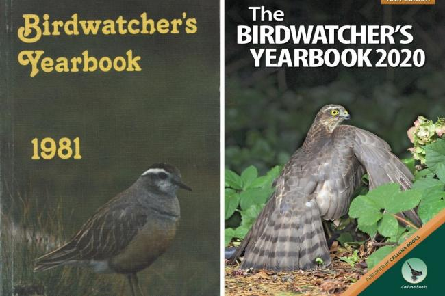 Before and after: The first edition of Birdwatcher's Yearbook and next year's