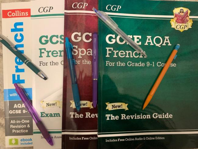 Revision guides and workbooks for different languages