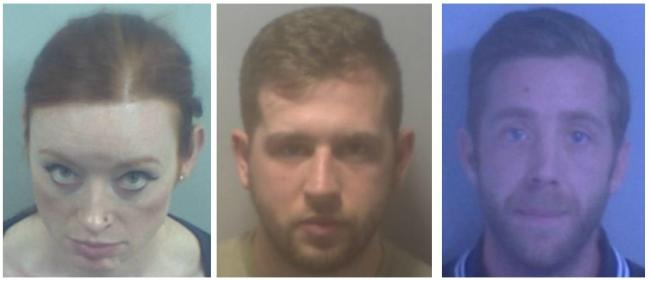 Deirdre McTucker, Dale Lutton and Paul Carbine have been jailed for violent disorder