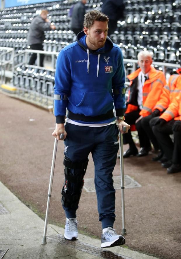 News Shopper: (Wickham recovering from cruciate ligament surgery in 2106)