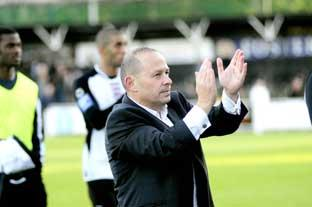 Lillywhites boss Mark Goldberg (above) will at least be pleased by Bromley's first half effort