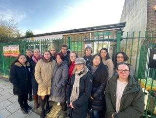 Parents at Dorset Road Infant school