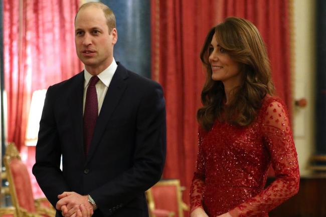 The Duke and Duchess of Cambridge at a reception at Buckingham Palace