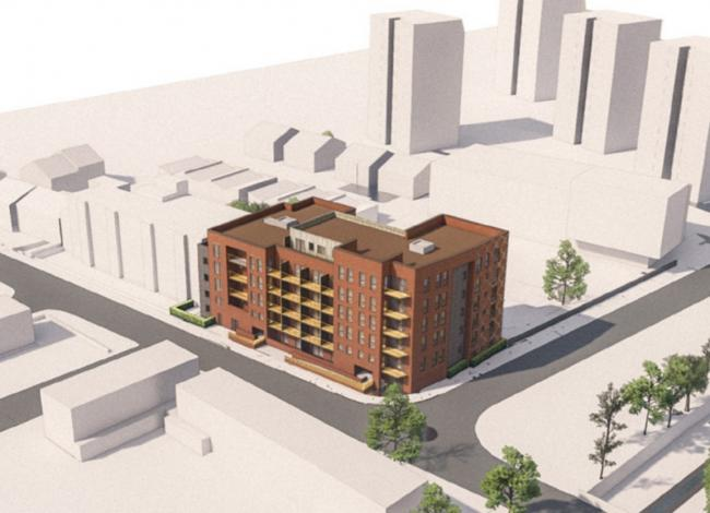 The proposed block of affordable housing. Picture: Greenwich Council.