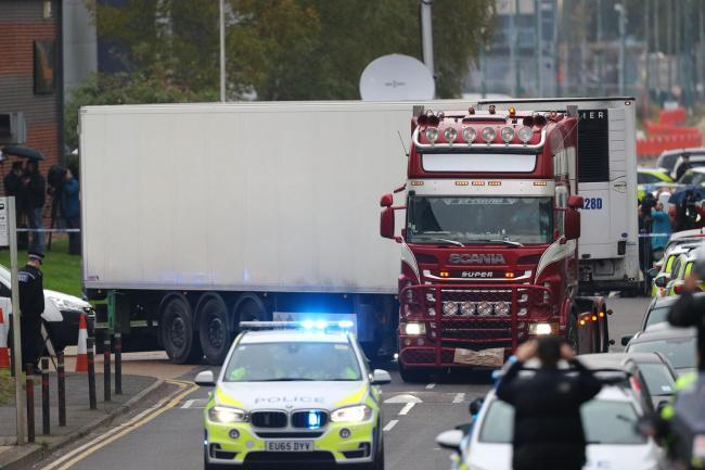 The bodies were found in a lorry