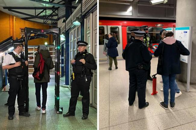 Met Police conducting a disruption operation at Woolwich Arsenal station
