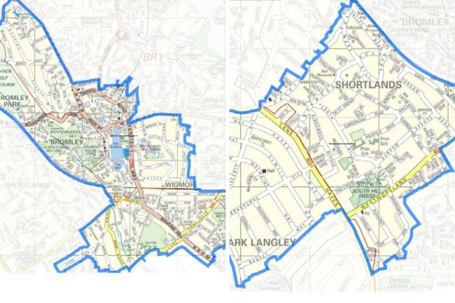 The areas of the Section 35 dispersal zone