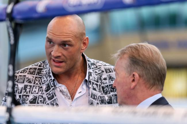Frank Warren, right, feels Tyson Fury has the psychological edge
