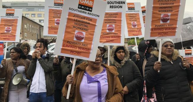 Lewisham hospital workers walked out on Thursday, March 12