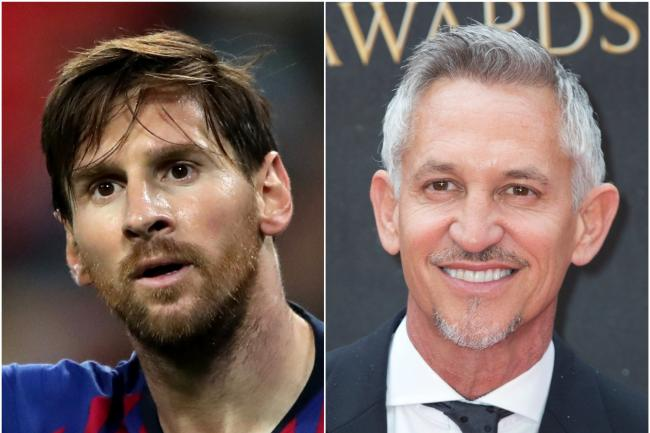 Lionel Messi and Gary Lineker