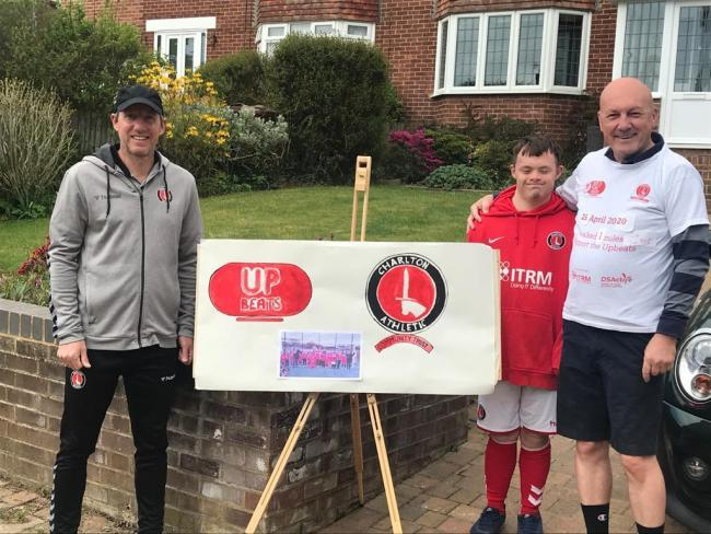 Charlton manager Lee Bowyer joined Charlton Upbeat William Kay for this year's walk.