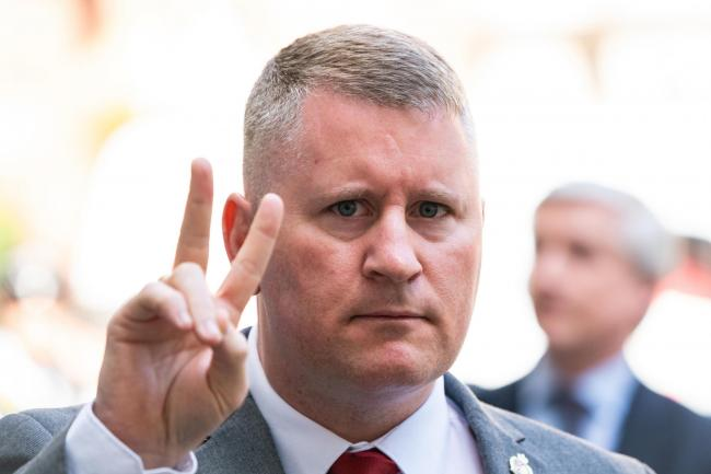 Paul Golding arriving at court (PA)