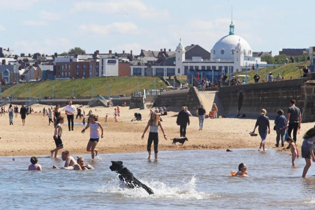 Tourism: Whitley Bay beach in the north east of England. Picture: PA Wire