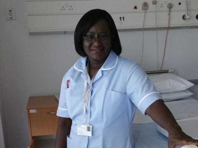 Zainab Deen, 56, was discharged from University Hospital Lewisham on International Nurses Day after a month inside with Covid-19.