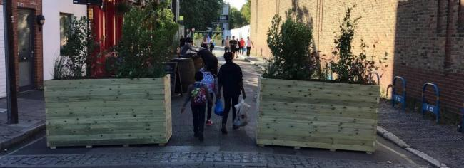 Barriers will be installed in Lewisham to aid social distancing and promote walking and cycling