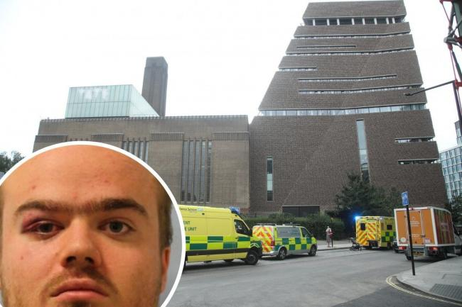 Jonty Bravery's victim survived a 30-metre fall from the Tate's viewing gallery