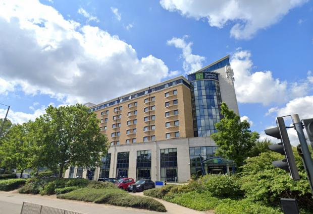 News Shopper: The Holiday Inn, Greenwich, where the woman was found.