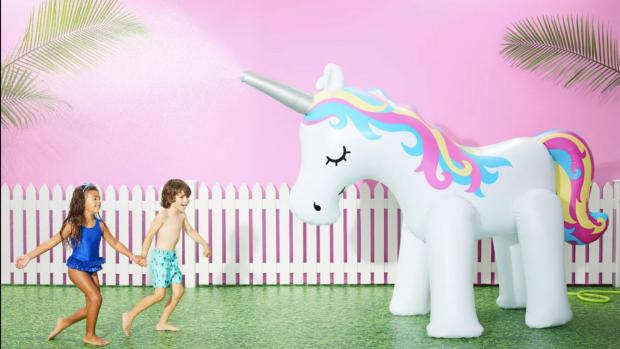 News Shopper: This unicorn sprinkler looms above kids, but it's a good size for adults, too. Credit: Sun Squad